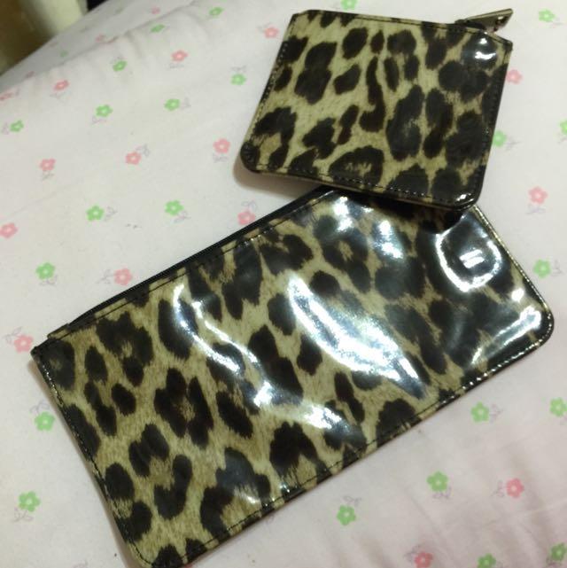 豹紋包包 三件組