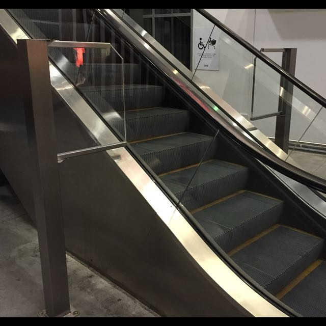Stainless Steel Escalators : Stainless steel escalator side guard rail everything else