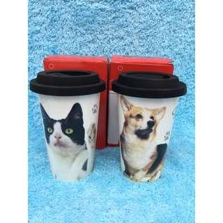 狗狗 貓咪 陶瓷杯 收藏 擺飾 寵物