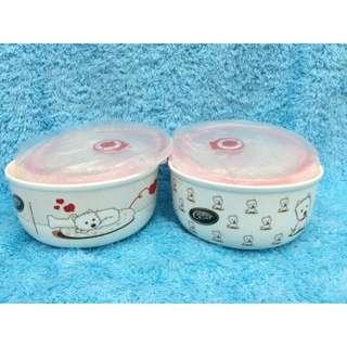 🚚 密封保鮮碗 收藏 擺飾 西莎 瓷器 寵物