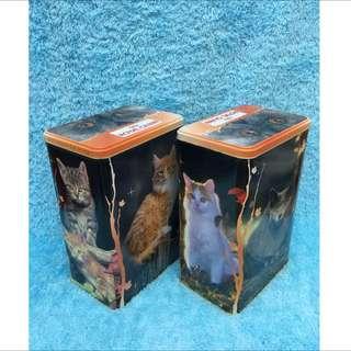 貓咪 收納桶 收藏 擺飾 鐵桶 復古 寵物