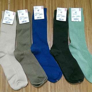 UNIQLO素面單色襪 25-27cm男女可穿
