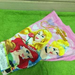 東京迪士尼 公主長毛巾 全新