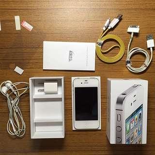 Iphone4s(64G)+兩張保護貼+7個殼