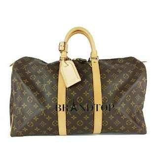 9b1ec63ac19d Auth Louis Vuitton Monogram Keepall 45