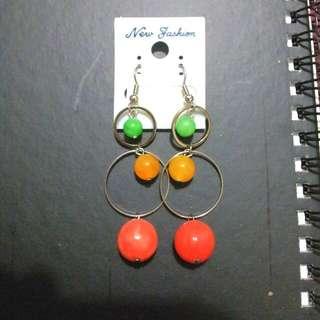 普普風系列糖果針式耳環