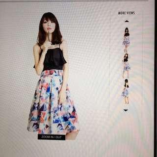 Aforarcade Leighton Midi Skirt in Prism (Size M)