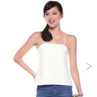Love Bonito White Torienne Top (Size M)