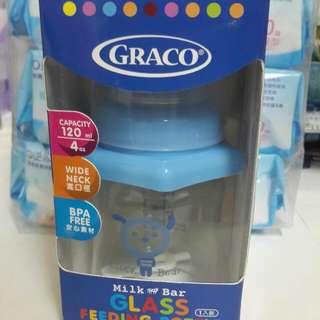 Graco 多面抗衝擊玻璃奶瓶 寬口徑 120ml