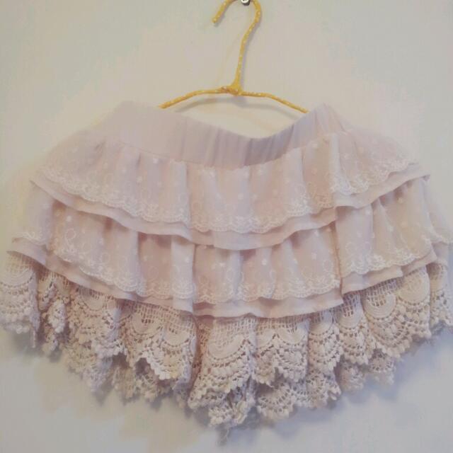 甜美內襯褲裙
