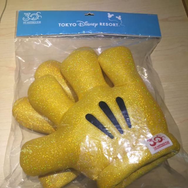全新 日本迪士尼30週年限量米奇黃金手套