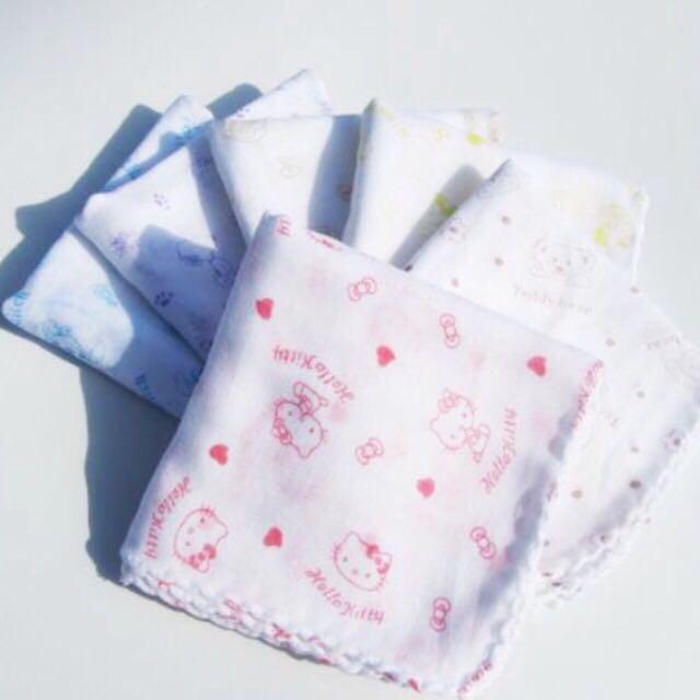 紗布口水巾 五種圖案