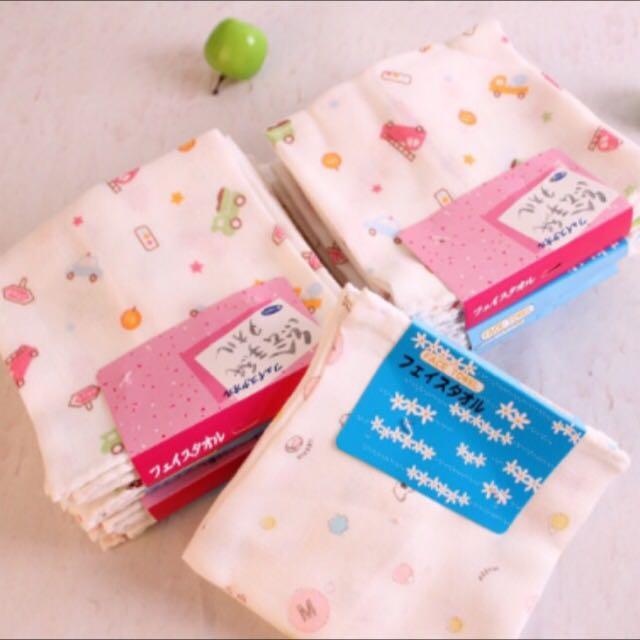 日本西松屋口水巾 四條一組