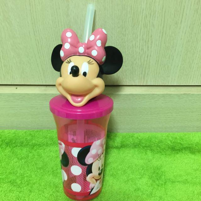 香港迪士尼 米妮吸管水杯