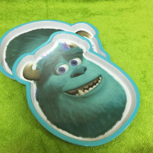 香港迪士尼 毛怪 怪獸電力公司 盤子