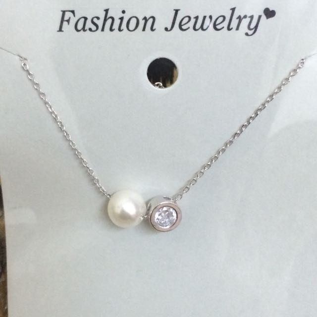 項鍊 珍珠 鑽 鎖骨鏈