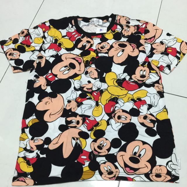 香港迪士尼 米奇滿版T恤 M號 全新
