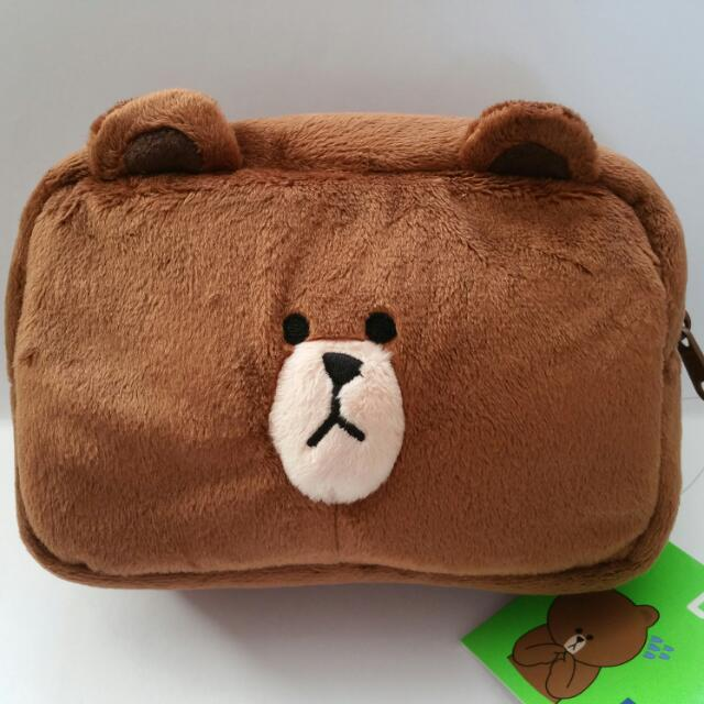 *Brand New* LINE Brown Pouch