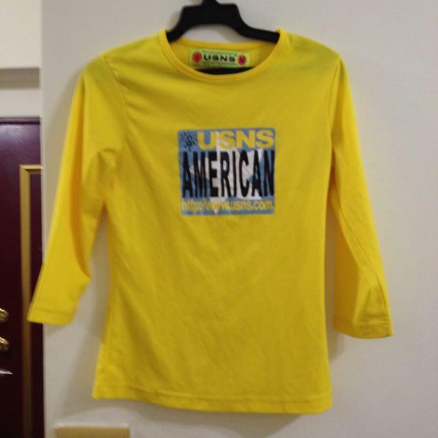 美式風格USNS亮黃T Shirt