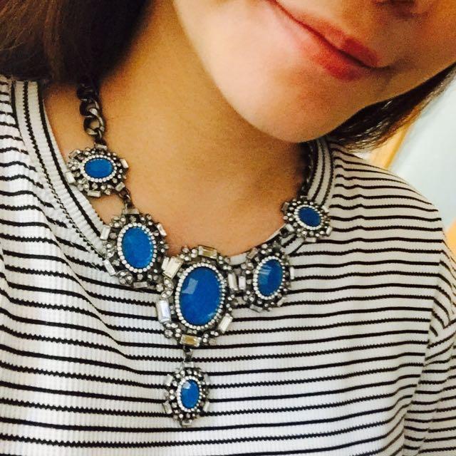 Zara 藍色大寶石 項鍊