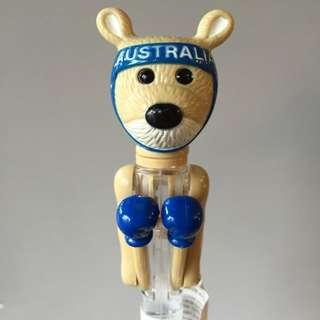 獨家購入澳洲 袋鼠拳撃筆(藍色)