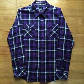 DC 紫色格紋襯衫 M