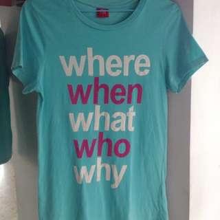 Turquoise Tee-shirt