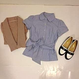 ✨(二手)2件👉襯衫+小外套