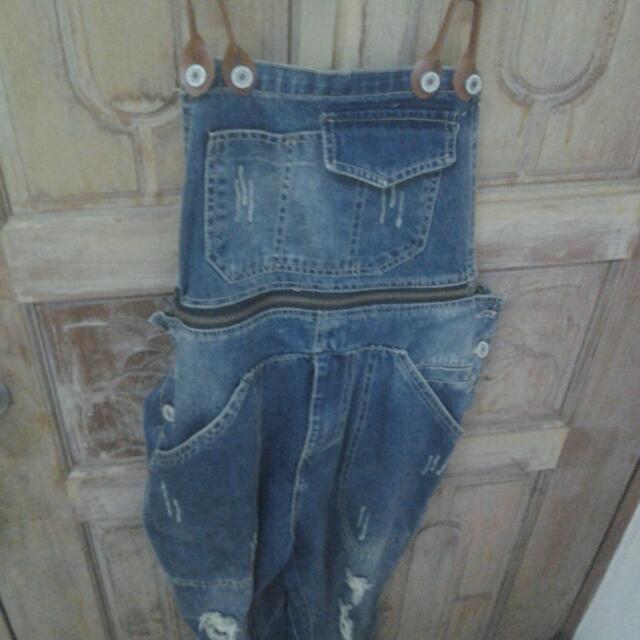 復古吊帶褲