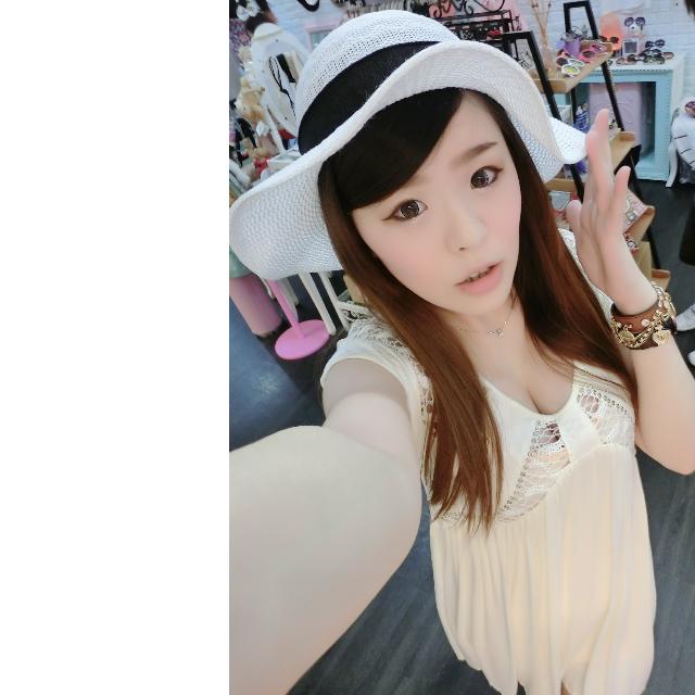 韓國緞帶蝴蝶結編織草帽