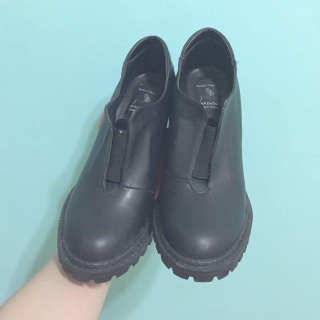 韓貨粗跟短靴