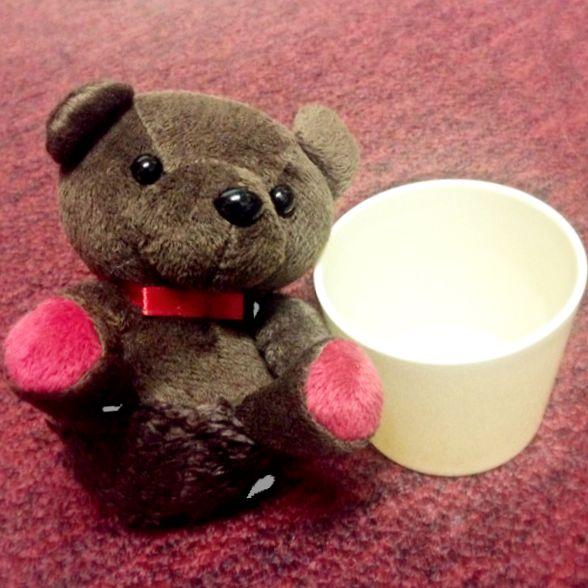 杯杯熊擺飾-擦拭布
