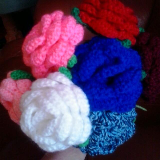 Crocet flowers