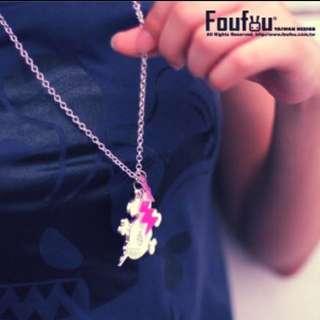 🚚 (全新未拆)Foufou文創-銀質項鍊-Bunny Skull Necklace