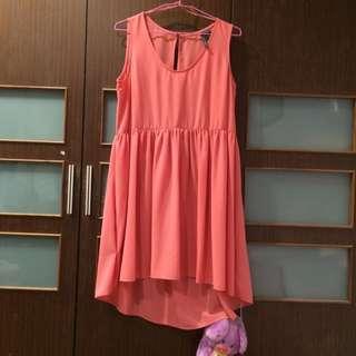 Mango桃粉紅色洋裝