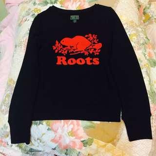 (新品出售) 加拿大ROOTS KIDS Logo圓領鋪毛上衣