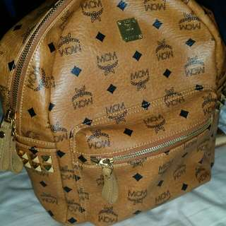 Authentic BROWN MCM backpack
