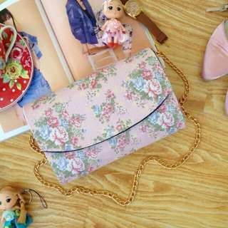 Ready Stock ■ Chicwish Floral Shabby Clutch