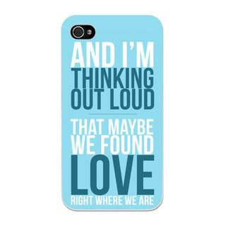 Ed Sheeran Thinking Out Loud Lyrics Phone Case