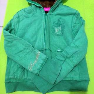 something綠色內舖棉外套