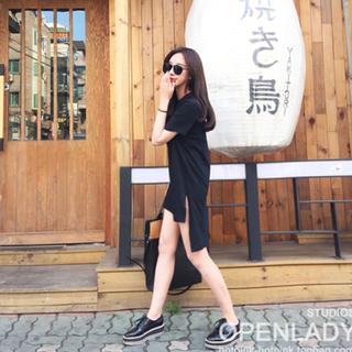 Basic Shirt Dress (Black)