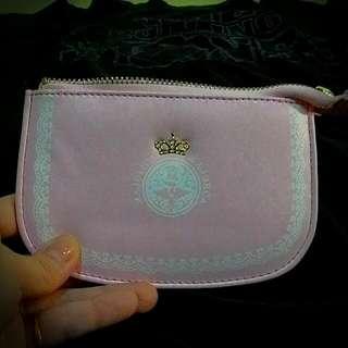 戀愛魔鏡粉紅色名片證件袋(全新,面寬約13cm,高約8cm)