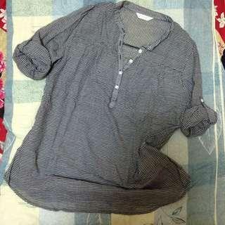 日系黑白格襯衫F
