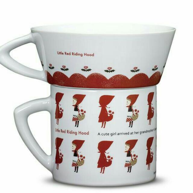 👍免運👍「小紅帽與野狼系列」雙杯組-小紅帽款