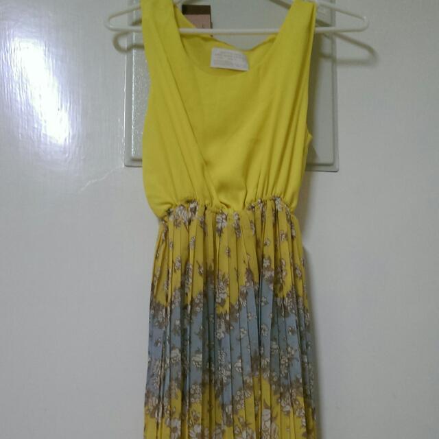 正韓雪紡百折裙洋裝