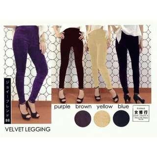 Velvet Legging / Celana Beludru / Pants