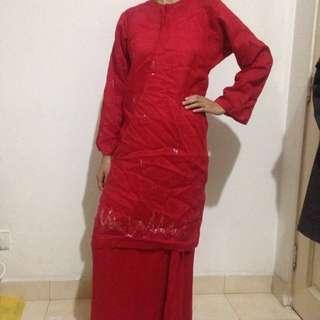 Chili Red Baju Kurung