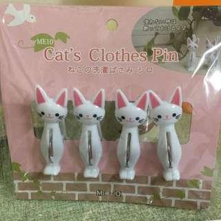 全新/日貨小雜物貓咪的洗衣夾