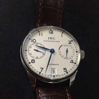 IWC Portuguese 500107  Blue Dial White Hands