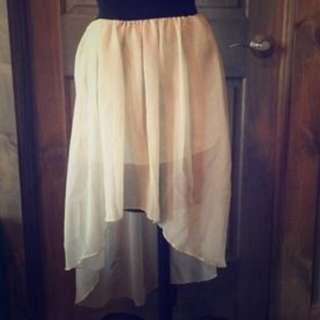 Off White High Low Skirt